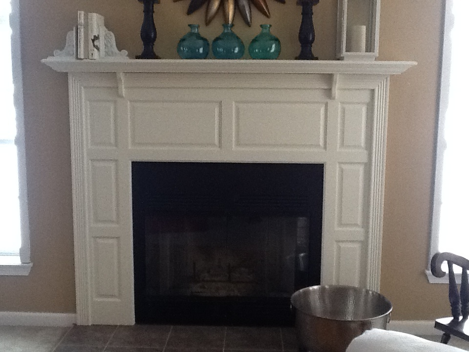 Painting fireplace – By My Own Design